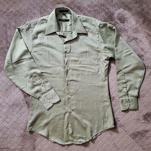 Geoffrey Beene Sateen Fitted Button Down Shirt